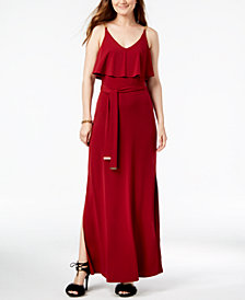 MICHAEL Michael Kors Chain-Embellished Popover Maxi Dress in Regular & Petite Sizes