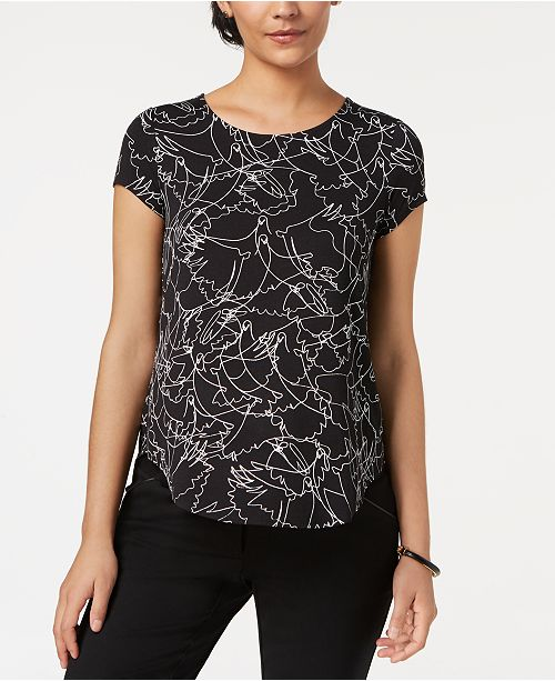 4db5ffcb Alfani Printed T-Shirt, Created for Macy's & Reviews - Tops - Women ...