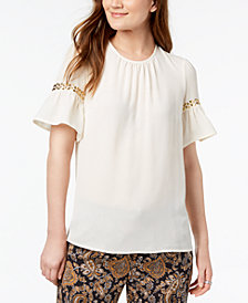 MICHAEL Michael Kors Studded Textured Top