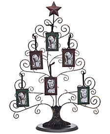 Godinger Medium Christmas Tree Picture Holder & 6 Frames