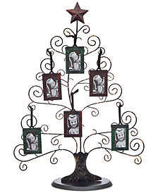 Godinger Philip Whitney Medium Christmas Tree Picture Holder & 6 Frames