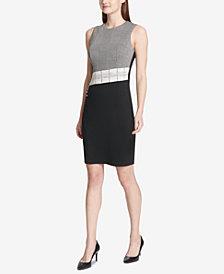Calvin Klein Mixed-Media Sheath Dress