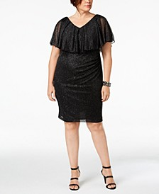 Plus Size Metallic Popover Dress