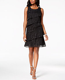 Jessica Howard Petite Embellished Tiered Dress