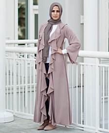 Verona Collection Ruffled Maxi Cardigan