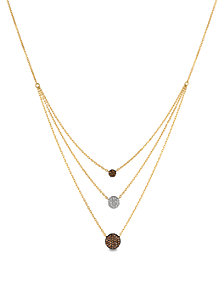 Le Vian® Vanilla Diamonds® (1/10 ct. t.w.) and Chocolate Diamonds® (1/4 ct. t.w.) Necklace in 14k Gold