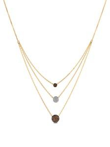 Le Vian® Vanilla Diamonds® (1/10 ct. t.w.) and Chocolate Diamonds® (1/4 ct. t.w.) Necklace in 14k Gold