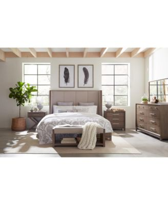 Rachael Ray Highline Bedroom Furniture, 3-Pc. Set (Upholstered Shelter King Bed, Chest & Nightstand)
