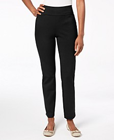 Petite Pull-On Ponté-Knit Pants, Created for Macy's