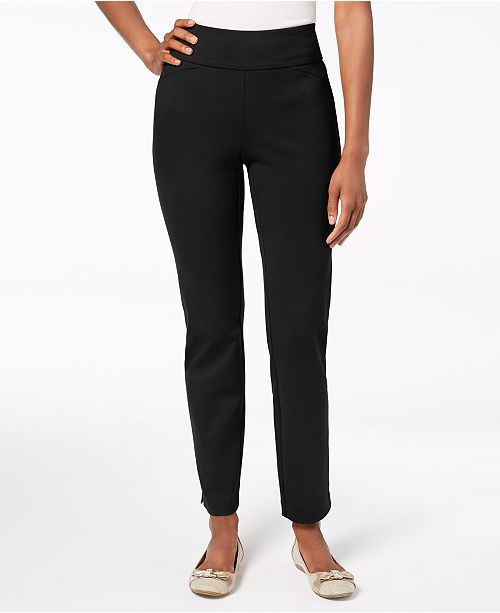 b7b989965e207 ... Charter Club Cambridge Pull-On Ponte Pants