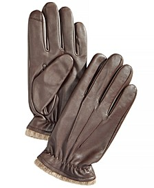 Men's Cashmere Lined Leather Gloves, Created for Macy's