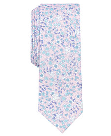 Bar III Men's Franconia Floral Skinny Tie, Created for Macy's