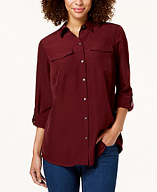 Charter Club Tab-Sleeve Blouse, Created for Macy's
