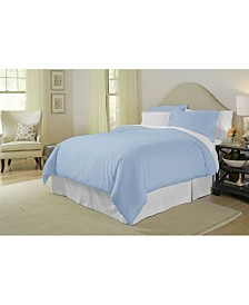 Pointehaven Solid 3-Pc. Queen Duvet Set, 400 Thread Count Cotton Sateen