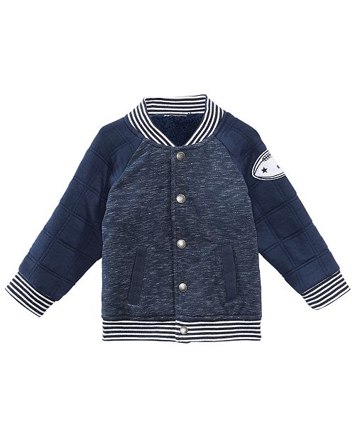 First Impressions Baby Boys Quilted Varsity Jacket Created For