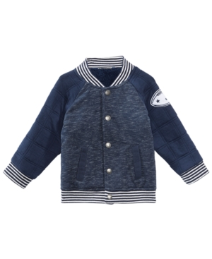 First Impressions Baby Boys Quilted Varsity Jacket Created for Macys