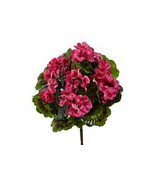 4-Pc. Geranium UV-Resistant Indoor/Outdoor Artificial Bush Set