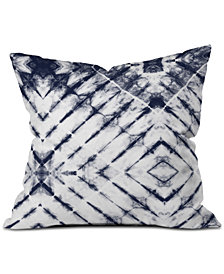 Deny Designs Little Arrow Design Co Shibori Tie-Dyed Throw Pillow