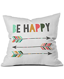 Deny Designs Chelcey Tate Be Happy Throw Pillow