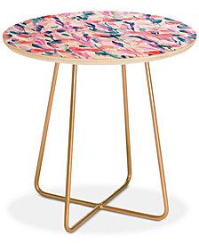 Deny Designs Jacqueline Maldonado Resolve Coral Round Side Table