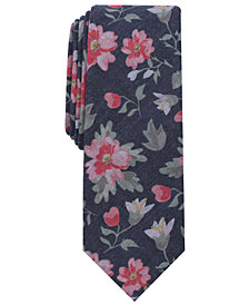 Bar III Men's Yawning Floral Skinny Tie, Created for Macy's