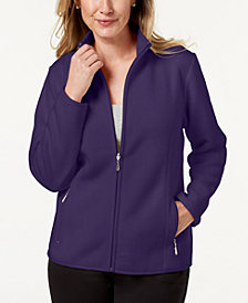 Karen Scott Petite Zeroproof Jacket, Created for Macy's
