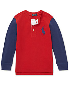 Polo Ralph Lauren Little Boys Big Pony Cotton Henley Shirt