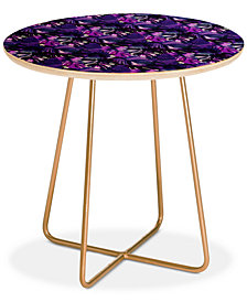 Deny Designs Amy Sia Welcome to the Jungle Palm Purple Round Side Table