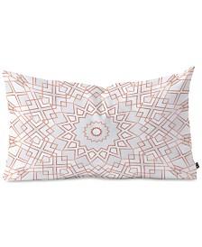 Deny Designs Elisabeth Fredriksson Rose  Mandala Oblong Throw Pillow