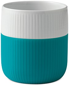 Turquoise Fluted Contrast Mug