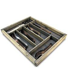 Handcrafted Flatware Storage Tray