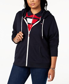 Tommy Hilfiger Plus Size Zip-Front Hoodie, Created for Macy's