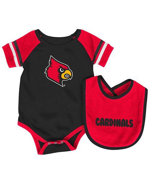 e7ee2b57 Louisville Cardinals Rollout Creeper and Bib Set, Infants (0-9 Months)