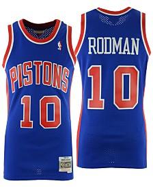 Mitchell & Ness Men's Dennis Rodman Detroit Pistons Hardwood Classic Swingman Jersey