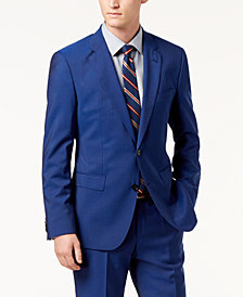 Hugo Boss Men's Modern-Fit Bright Blue Solid Suit Jacket