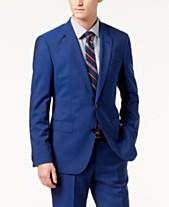 HUGO Men's Modern-Fit Bright Blue Solid Suit Jacket