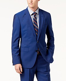HUGO Men's Modern-Fit Bright Blue Solid Suit Jacket