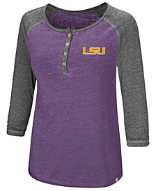 Colosseum Women's LSU Tigers Burnout Heather Henley T-Shirt
