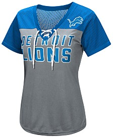 G-III Sports Women's Detroit Lions Shake Down Jersey T-Shirt