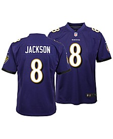 Lamar Jackson Baltimore Ravens Game Jersey, Big Boys (8-20)