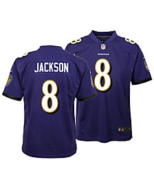 Nike Lamar Jackson Baltimore Ravens Game Jersey, Big Boys (8-20)