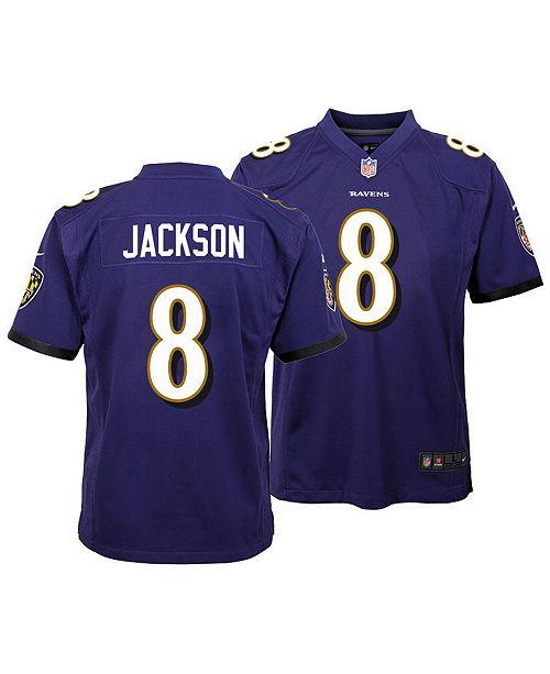 brand new bb5cc 68ec5 ... Nike Lamar Jackson Baltimore Ravens Game Jersey, Big Boys (8-20) ...