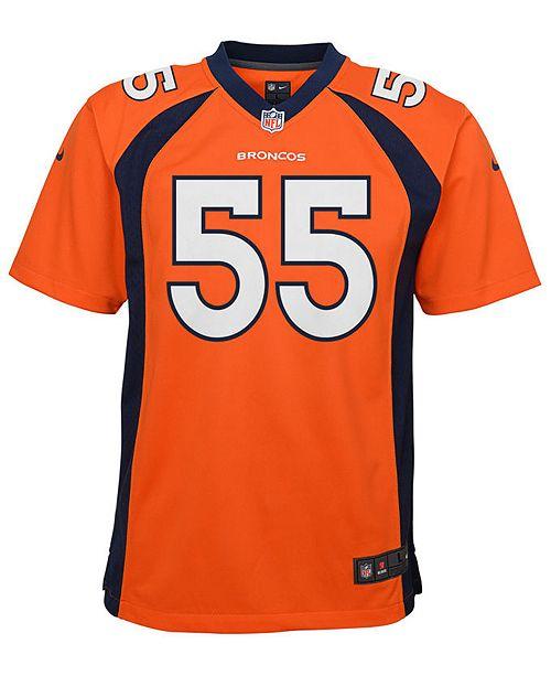 check out 82db8 301f7 Bradley Chubb Denver Broncos Game Jersey, Big Boys (8-20)