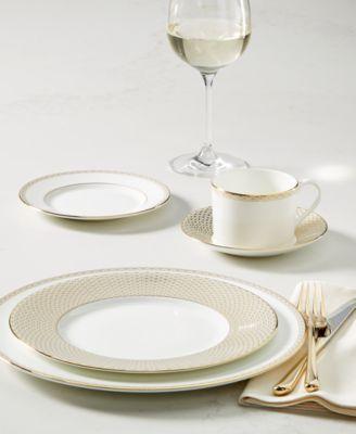 Lismore Diamond Gold Collection Teacup & Saucer Set