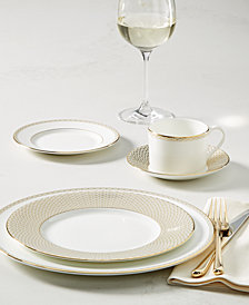 Waterford Lismore Diamond Gold Dinnerware Collection