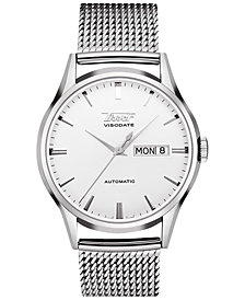 Tissot Men's Swiss Automatic Heritage Visodate Stainless Steel Mesh Bracelet Watch 40mm, Created for Macy's - A Limited Edition