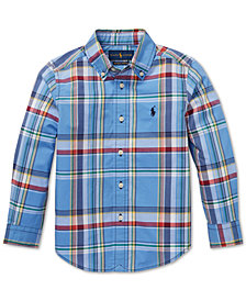 Polo Ralph Lauren Little Boys Plaid Cotton Shirt