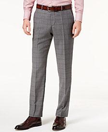 Hugo Boss Men's Modern-Fit Medium Gray Glen Plaid Suit Pants