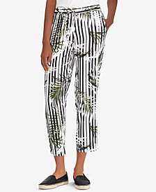 Lauren Ralph Lauren Printed Twill Straight-Fit Pants