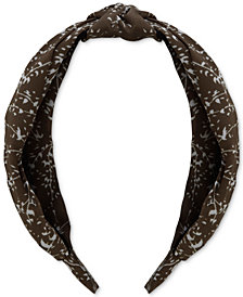Lucky Brand Dusk Vines Printed Knotted Headband, Created for Macy's